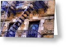 Windowscape 7 - Old Buildings Of New York City Greeting Card