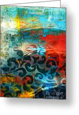 Winds Of Change - Abstract Art Greeting Card