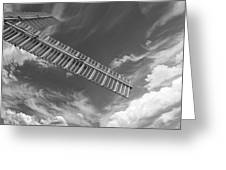 Winds Of Time Black And White Greeting Card