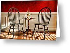 Windsor Chairs Greeting Card by Olivier Le Queinec