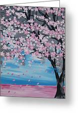 Windswept Blossoms Greeting Card