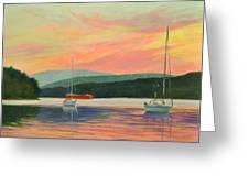 Windswept Sky Hudson Highlands Greeting Card