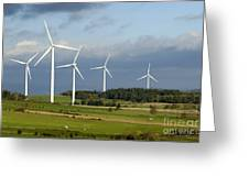 Windturbines Greeting Card by Bernard Jaubert