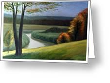 Windy Autumn Greeting Card