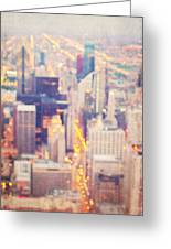 Windy City Lights - Chicago Greeting Card