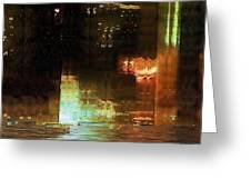 Windy City Night Greeting Card