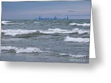 Windy City Skyline Greeting Card