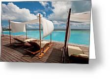 Windy Day At Maldives Greeting Card