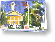 Windy Day At The Courthouse Greeting Card