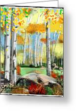 Windy Day In The Aspens Greeting Card