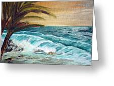 Windy Shore Greeting Card