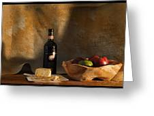 Wine And Cheese 1 Greeting Card