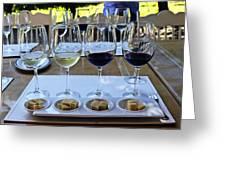 Wine And Cheese Tasting Greeting Card by Kurt Van Wagner