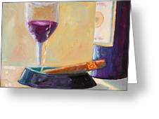 Wine And Cigar Greeting Card