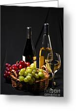 Wine And Grapes Greeting Card by Elena Elisseeva
