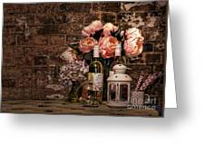 Wine And Roses Greeting Card