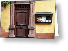 Wine Bar Door Greeting Card