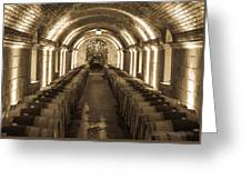 Wine Barrel Barrage Greeting Card