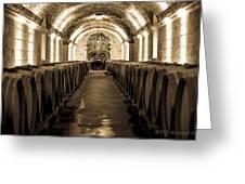 Wine Barrel Boulevard Greeting Card