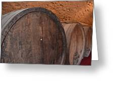 Wine Barrel Greeting Card