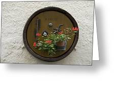 Wine Barrel Decoration Greeting Card