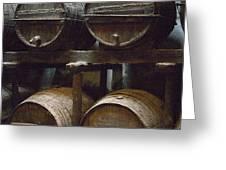 Wine Barrels Greeting Card