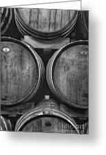 Wine Barrels Monochrome Greeting Card