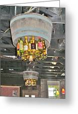 Wine Bottle Chandelier Greeting Card