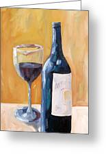 Wine Bottle Still Life Greeting Card