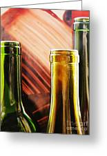 Wine Bottles 2 Greeting Card