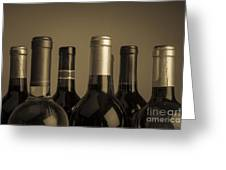 Wine Bottles Greeting Card by Diane Diederich