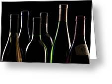 Wine Bottles Greeting Card by Tom Mc Nemar