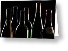Wine Bottles Greeting Card
