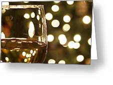 Wine By The Lights Greeting Card