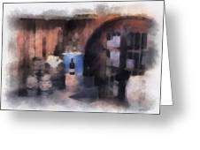 Wine Cellar Photo Art Greeting Card