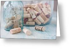 Wine Cork Collection Greeting Card by Kay Pickens