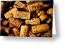Wine Corks - Art Version Greeting Card