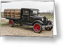 Wine Delivery Truck Greeting Card