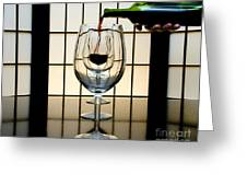 Wine For Three Greeting Card