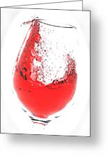 Wine Glass Greeting Card