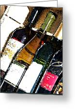 Wine In A Row Greeting Card