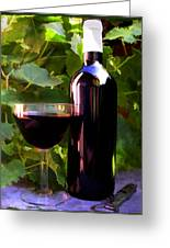 Wine In The Sunset Greeting Card