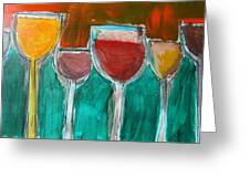 Wine Party 3 Greeting Card