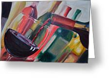 Wine Pour IIi Greeting Card