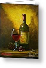 Wine Shadow Ombra Di Vino Greeting Card by Italian Art