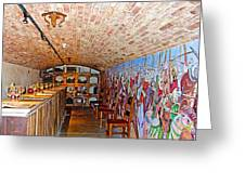 Wine Tasting Room In Castello Di Amorosa In Napa Valley-ca Greeting Card