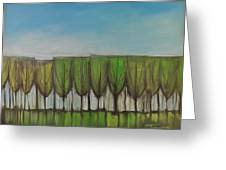 Wineglass Treeline Greeting Card