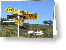 Wineries Greeting Card