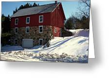Winery Barn In Winter Greeting Card by Desiree Paquette