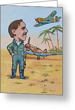 Wing Cdr.clive Caldwell Greeting Card